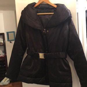 Edie Tahari black down coat size large